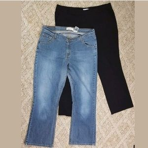 Lot of 2 Levis Bootcut Jeans Denim NY&C Trousers